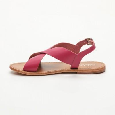 Sandales 100% cuir Canoas Noir