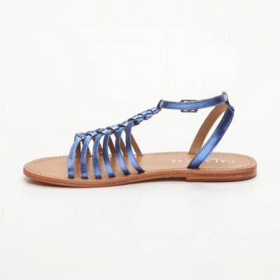 Sandales Guaratiba Royal Blue Calank pour femme 100% Cuir