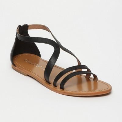 Sandales 100% cuir Grumari Coloris Bronze