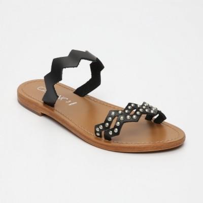 Sandales 100% cuir Pedras Gris