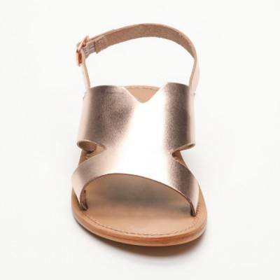 Sandales Lima Pink Gold Calank pour femme 100% Cuir