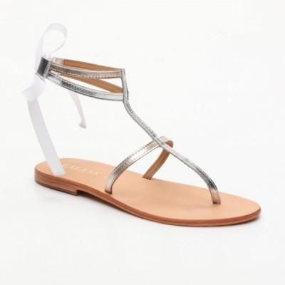Sandales 100% cuir Ubatuba Corail Clair