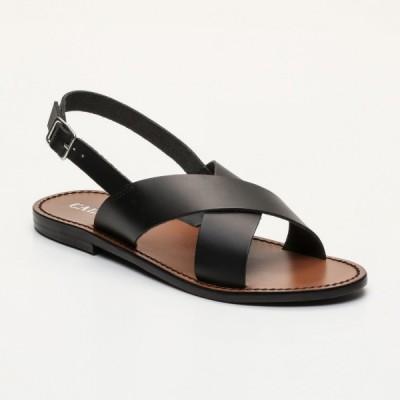 Sandales 100% cuir Flava  Rouge Et Coloris Doré