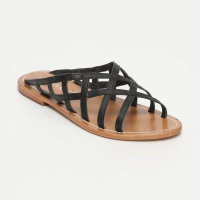 Sandales Nojan Black Calank pour femme 100% Cuir