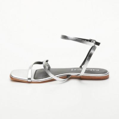 Sandales 100% cuir Deca Noir Et Coloris Doré