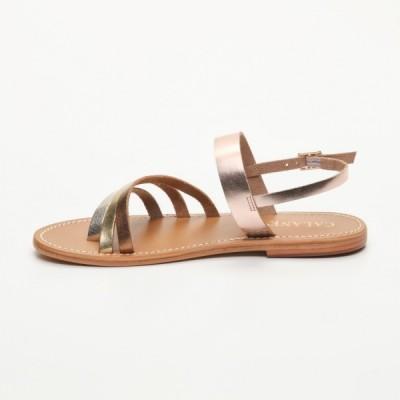 Sandales 100% cuir  Faria Camel