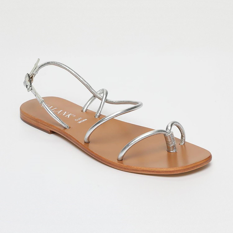 Sandales Pourhia Silver Calank pour femme 100% Cuir