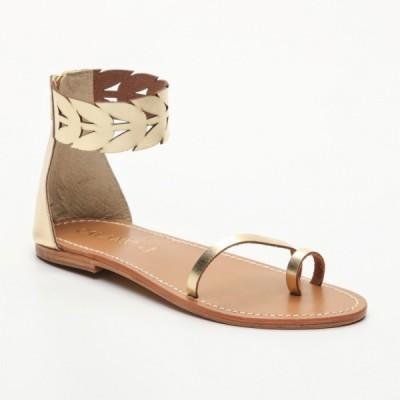 Sandales 100% cuir Garces Coloris Doré