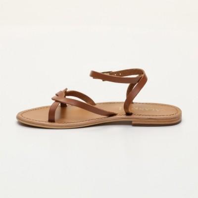 Sandales Caela Camel Calank pour femme 100% Cuir