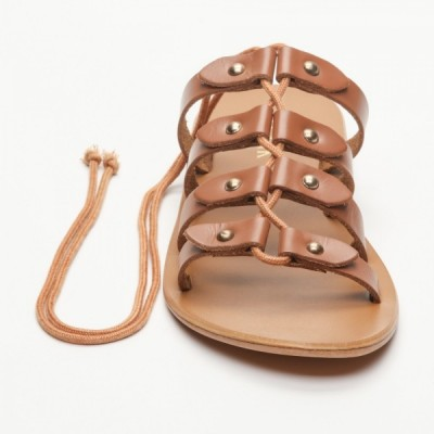 Sandales 100% cuir Jazmin  Camel