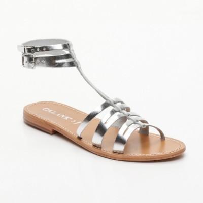 Sandales Luuk Silver Calank pour femme 100% Cuir