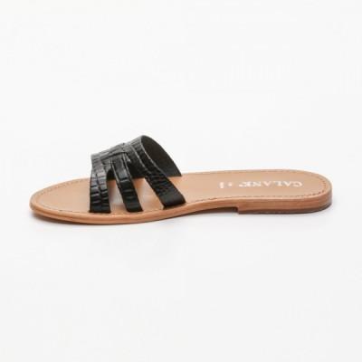 Sandales 100% cuir Quental Bleu
