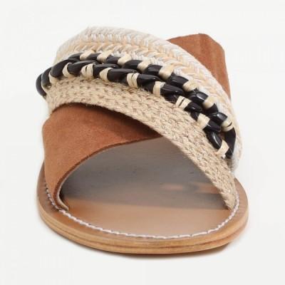 Sandales 100% cuir Managua  Coloris Argenté