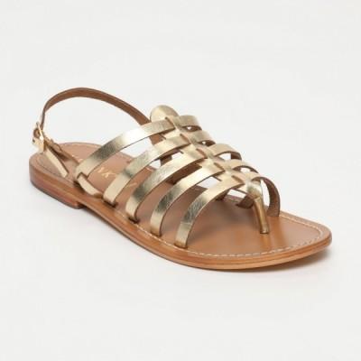 Sandales Maiten Dark Gold Calank pour femme 100% Cuir