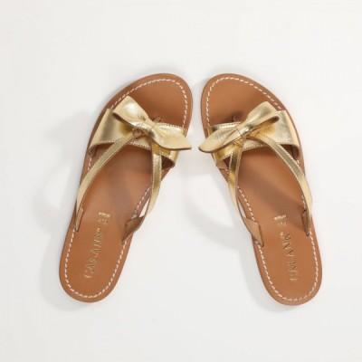 Sandales 100% cuir Denisia Marron Clair