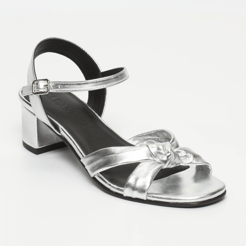 Sandales Meika Silver Calank pour femme 100% Cuir