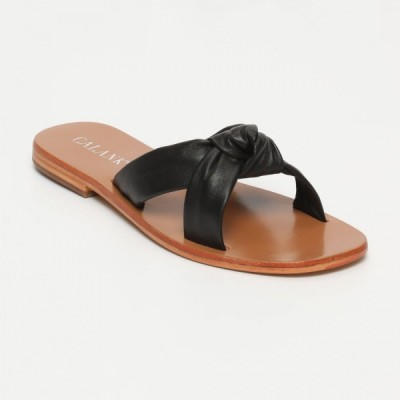 Sandales Dorreh Black Calank pour femme 100% Cuir