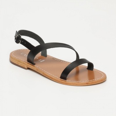 Sandales 100% cuir Correa Argenté