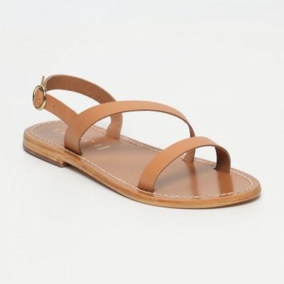 Sandales 100% cuir Dianella Doré Et Camel