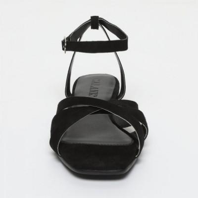 Sandales 100% cuir Sollya Noir