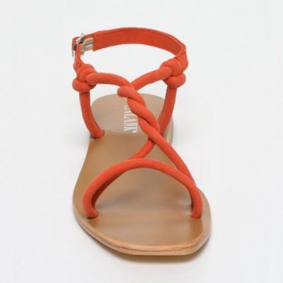 Sandales 100% cuir Hecla Marron Clair, Beige Et Bronze